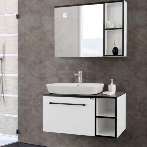 Ritmo 900mm White Vanity Unit.