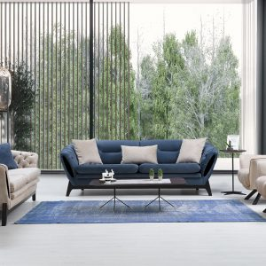 Elit set comes with heavy luxurious velour look, with solid stained wood feet/base and these sofas ranges can be used as a double bed. These sofas can be purchased as a set or individual pieces.