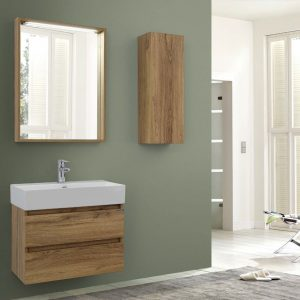 Plaza 700mm Oak Vanity Unit.