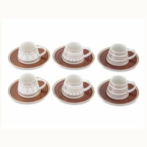 Bianca Luna Smooth Red Set of 6 Coffee Cups